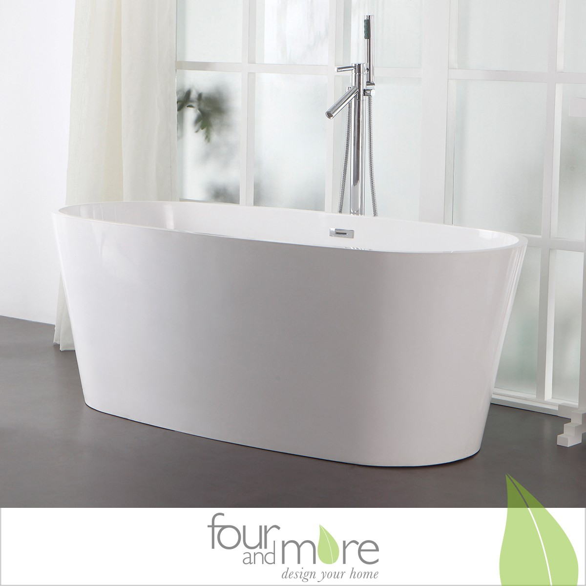 0906 freistehende design badewanne aus mineralguss. Black Bedroom Furniture Sets. Home Design Ideas