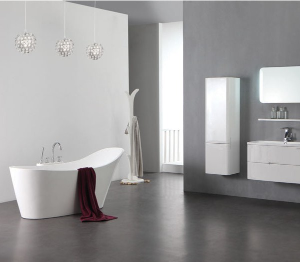 0907 freistehende design badewanne aus mineralguss. Black Bedroom Furniture Sets. Home Design Ideas