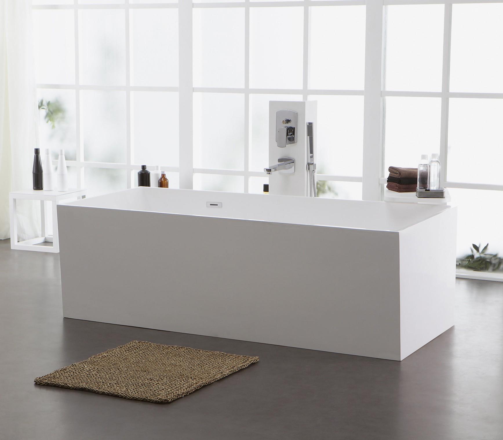 freistehende badewanne aus mineralguss kzoao 1006 badewelt wannen kunststein. Black Bedroom Furniture Sets. Home Design Ideas