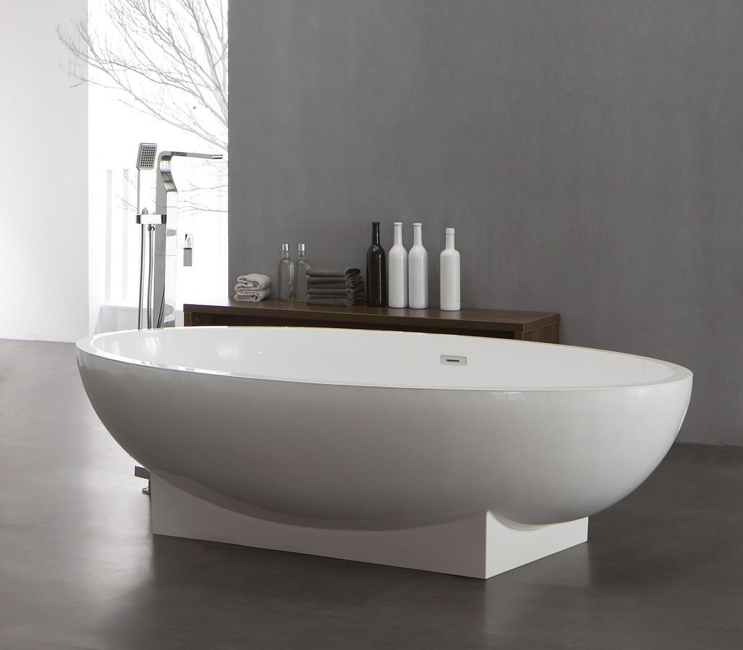 freistehende badewanne aus mineralguss kzoao 1008 badewelt wannen kunststein. Black Bedroom Furniture Sets. Home Design Ideas