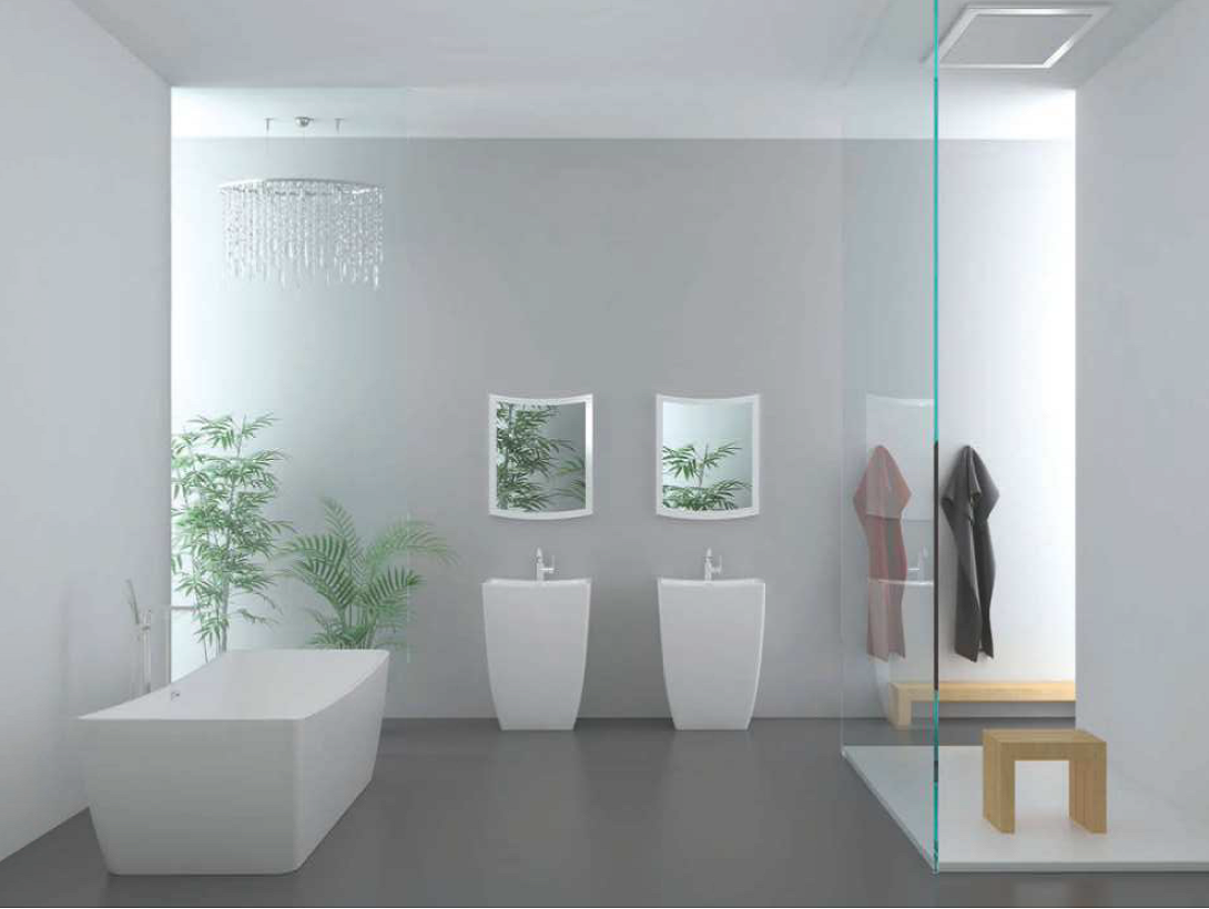 1490 freistehende design badewanne aus mineralguss wanne art 27042 ebay. Black Bedroom Furniture Sets. Home Design Ideas
