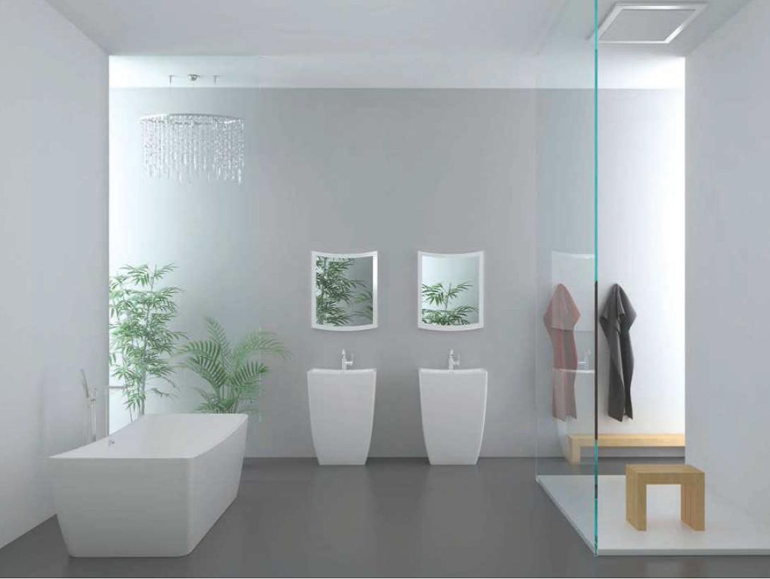 1490 freistehende design badewanne aus mineralguss wanne. Black Bedroom Furniture Sets. Home Design Ideas