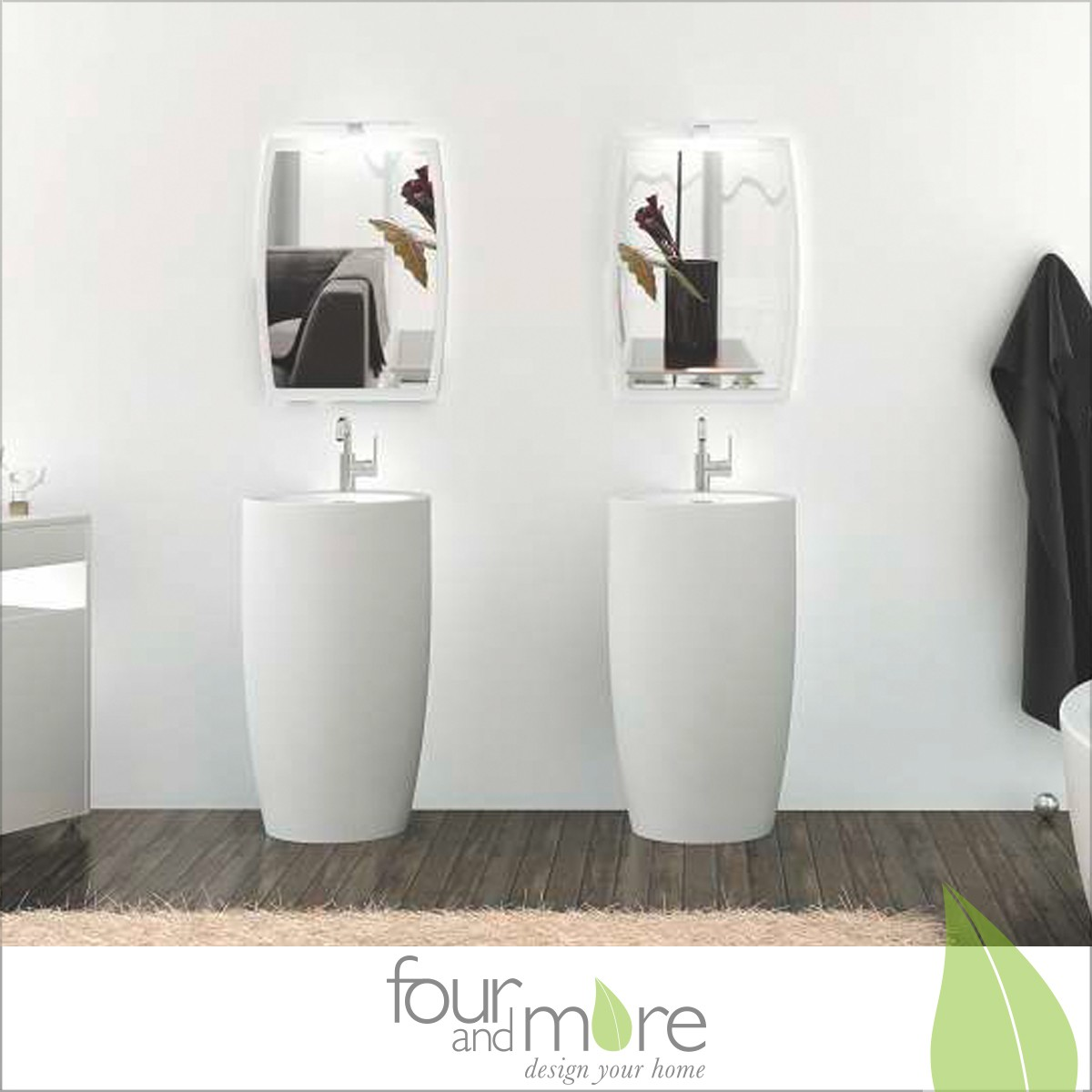 mineralguss waschbecken waschs ule waschtisch in wei. Black Bedroom Furniture Sets. Home Design Ideas