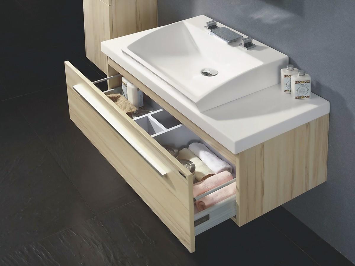 waschtisch set london 100 cm breit aus vollholz mit mineralguss waschbecken c017 ebay. Black Bedroom Furniture Sets. Home Design Ideas