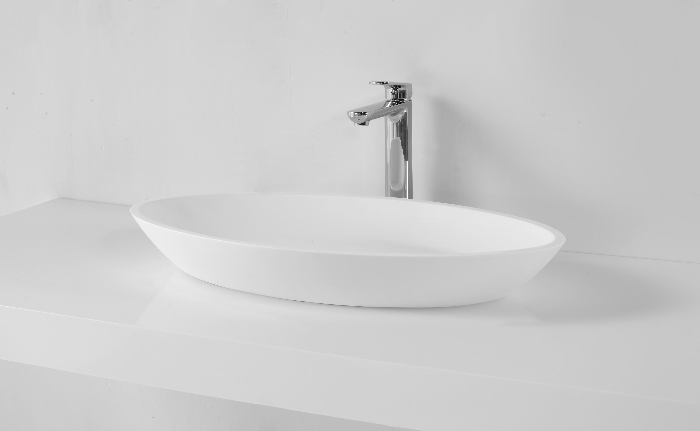 design aufsatzwaschbecken aus kunsstein in matt oder gl nzend modell 1305. Black Bedroom Furniture Sets. Home Design Ideas