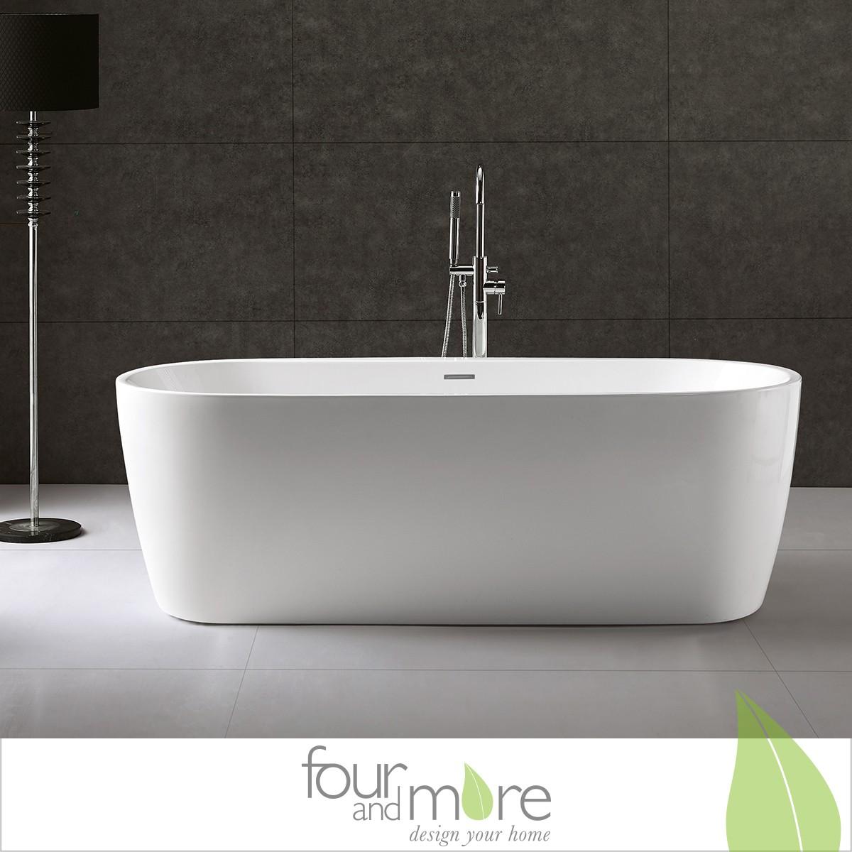 exclusive freistehende badewanne mit ab und berlauf neu ovp art nr 28018 ebay. Black Bedroom Furniture Sets. Home Design Ideas
