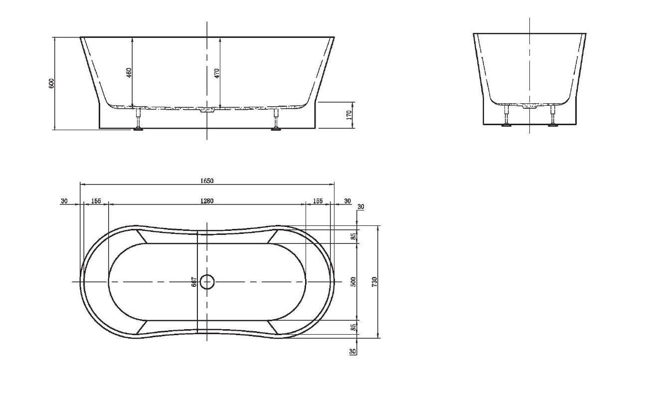 freistehende acrylwanne d 8055 wei ebay. Black Bedroom Furniture Sets. Home Design Ideas