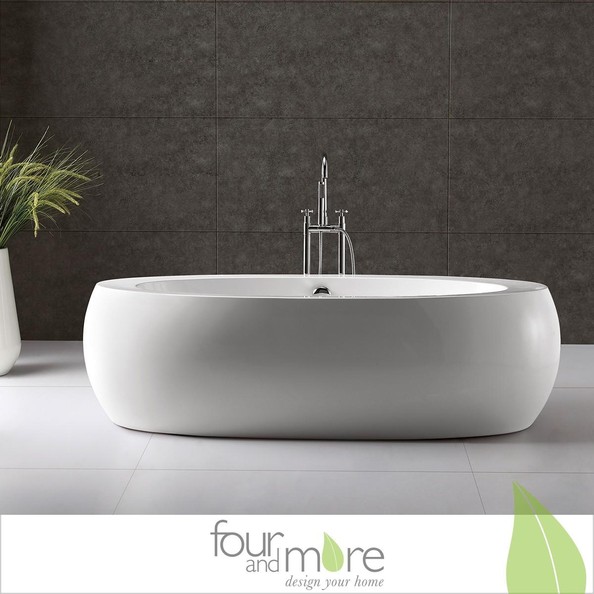 exclusive freistehende badewanne mit ab und berlauf neu ovp art nr 28026. Black Bedroom Furniture Sets. Home Design Ideas