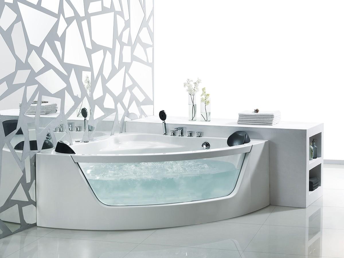 eckwanne acrylwanne d 3023 155 wei ebay. Black Bedroom Furniture Sets. Home Design Ideas
