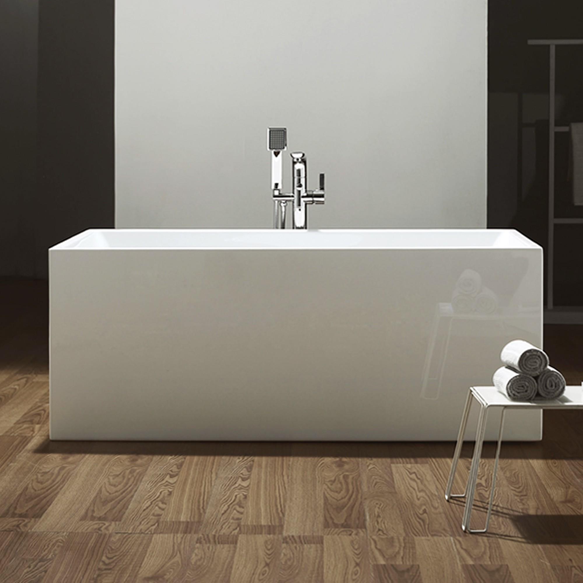 exclusive freistehende badewanne mit ab und berlauf neu. Black Bedroom Furniture Sets. Home Design Ideas