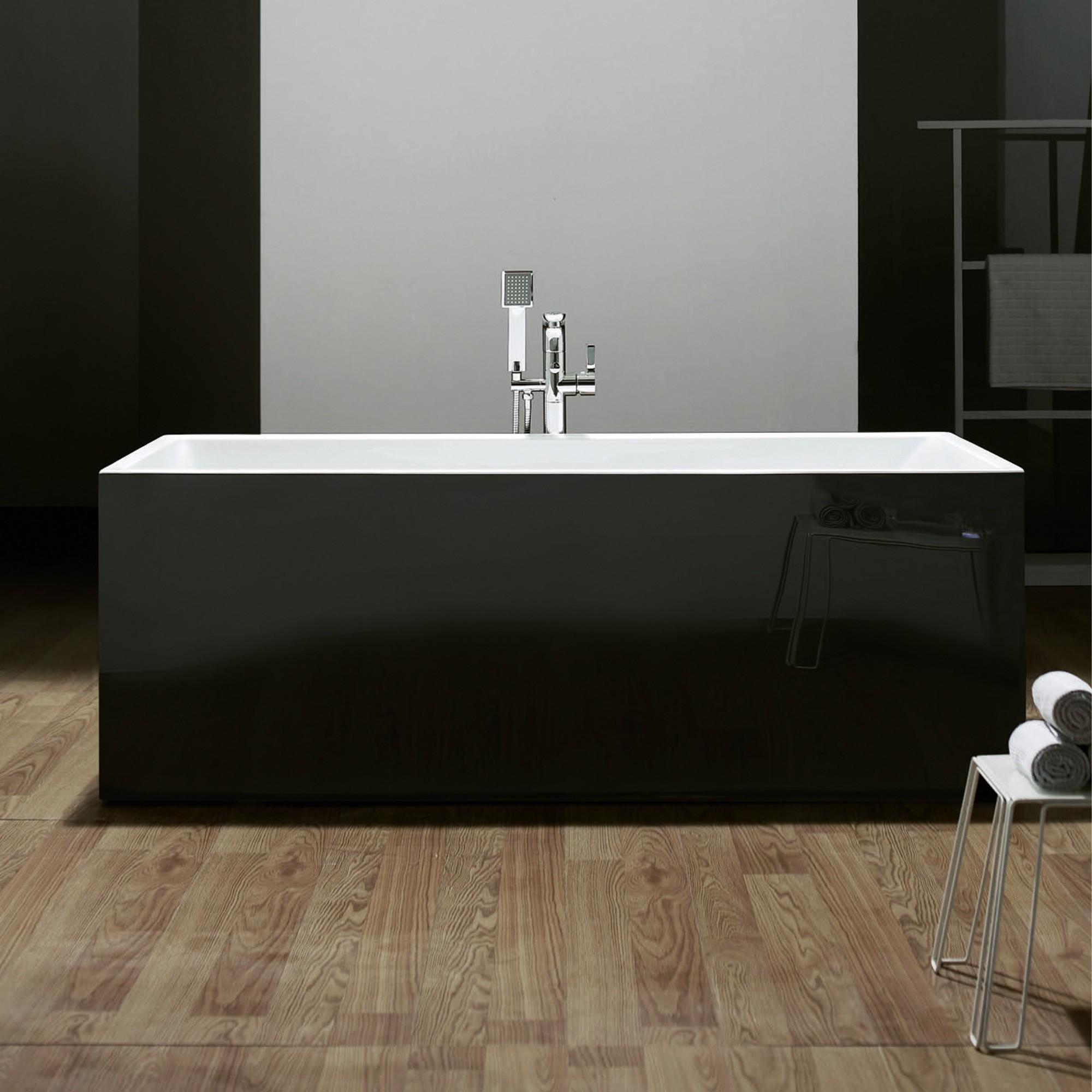 exclusive freistehende acryl badewanne mit ab und. Black Bedroom Furniture Sets. Home Design Ideas