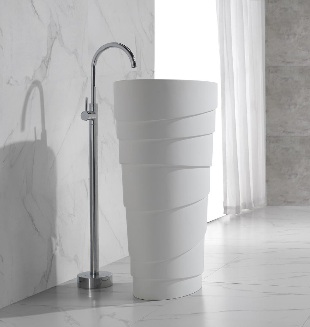 flow freistehende armatur f r waschs ulen waschtisch waschbecken ebay. Black Bedroom Furniture Sets. Home Design Ideas