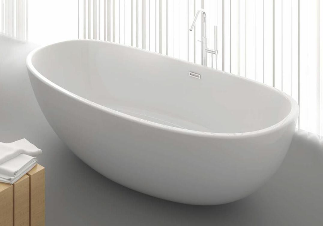 freistehende badewanne aus mineralguss kzoao 1489 badewelt. Black Bedroom Furniture Sets. Home Design Ideas