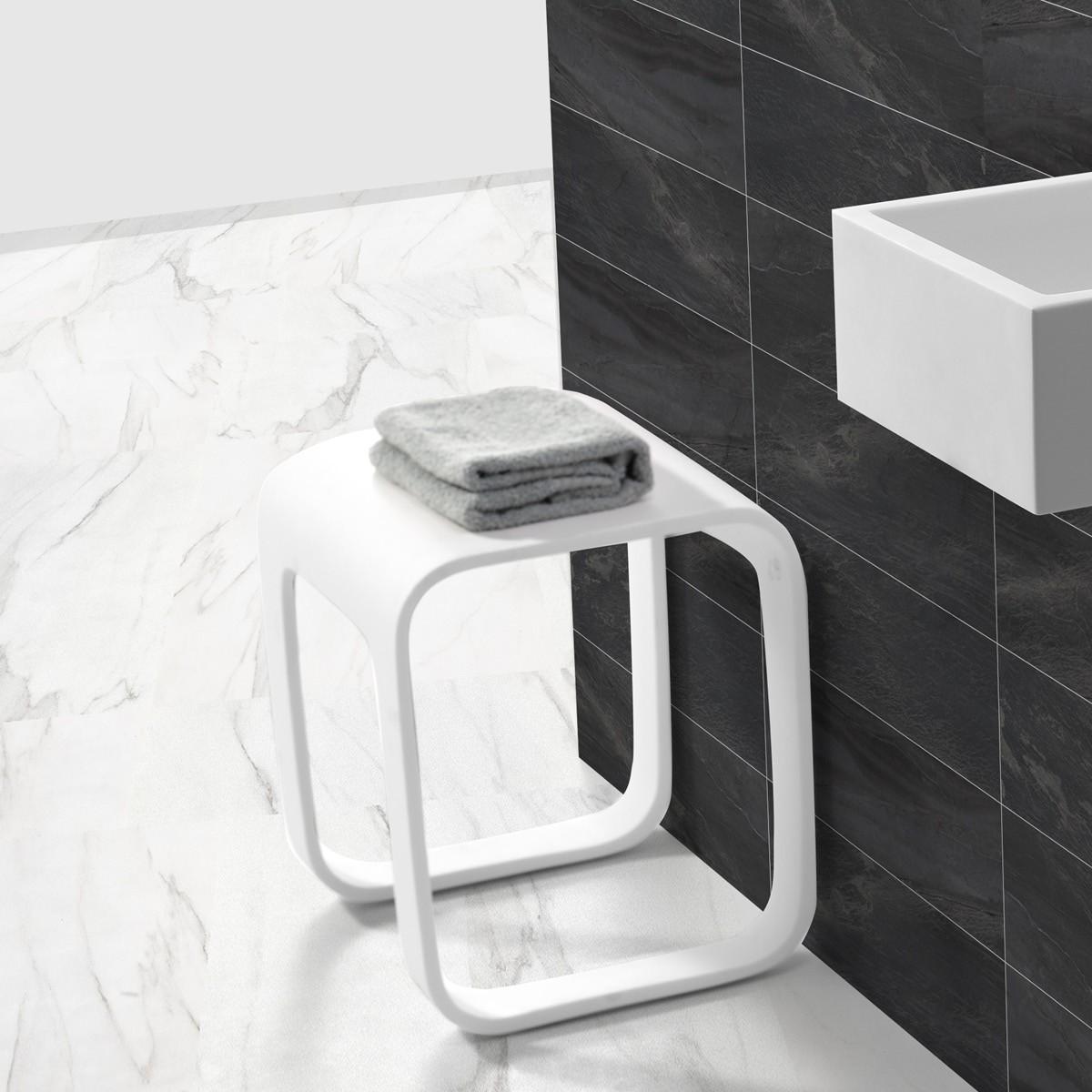 Badhocker design  Design Duschhocker / Badhocker aus Mineralguss | eBay