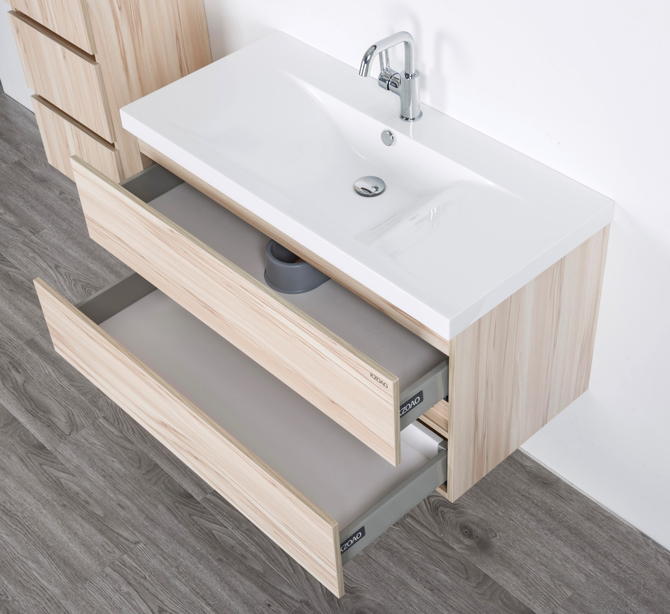 hochwertige badm bel aus vollholz mit mineralguss waschbecken modell paris ebay. Black Bedroom Furniture Sets. Home Design Ideas