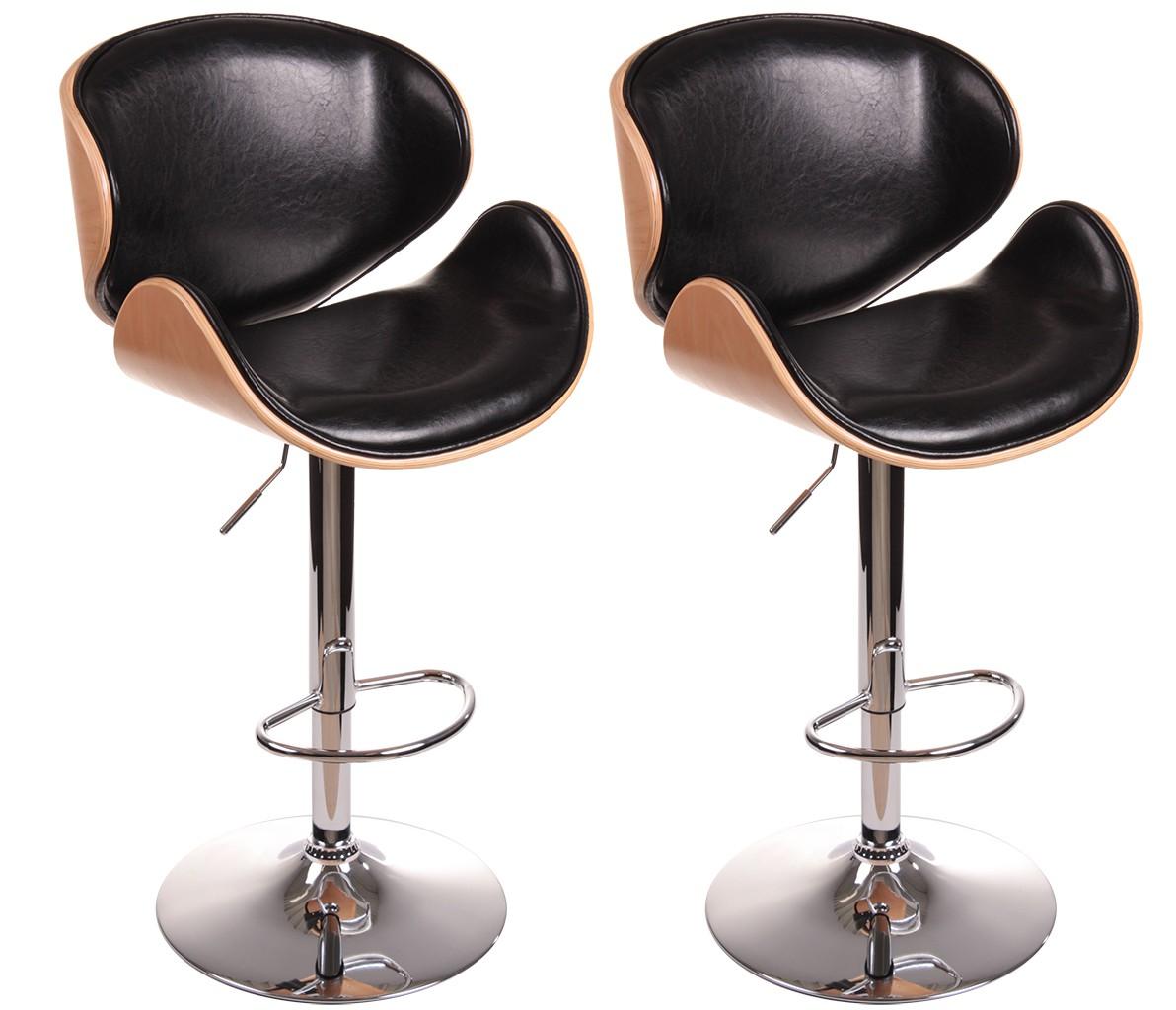2203 2er set design barhocker lounge hocker in buche for Xxl barhocker