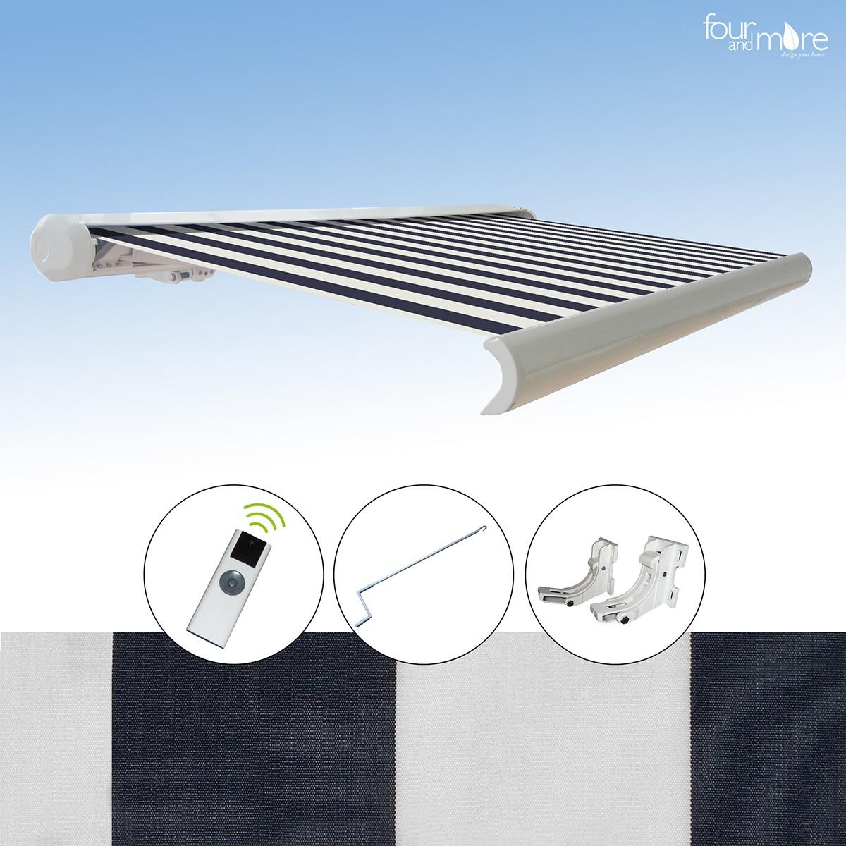 markise 4 5x3 m haus und garten garten sonnenschutz. Black Bedroom Furniture Sets. Home Design Ideas