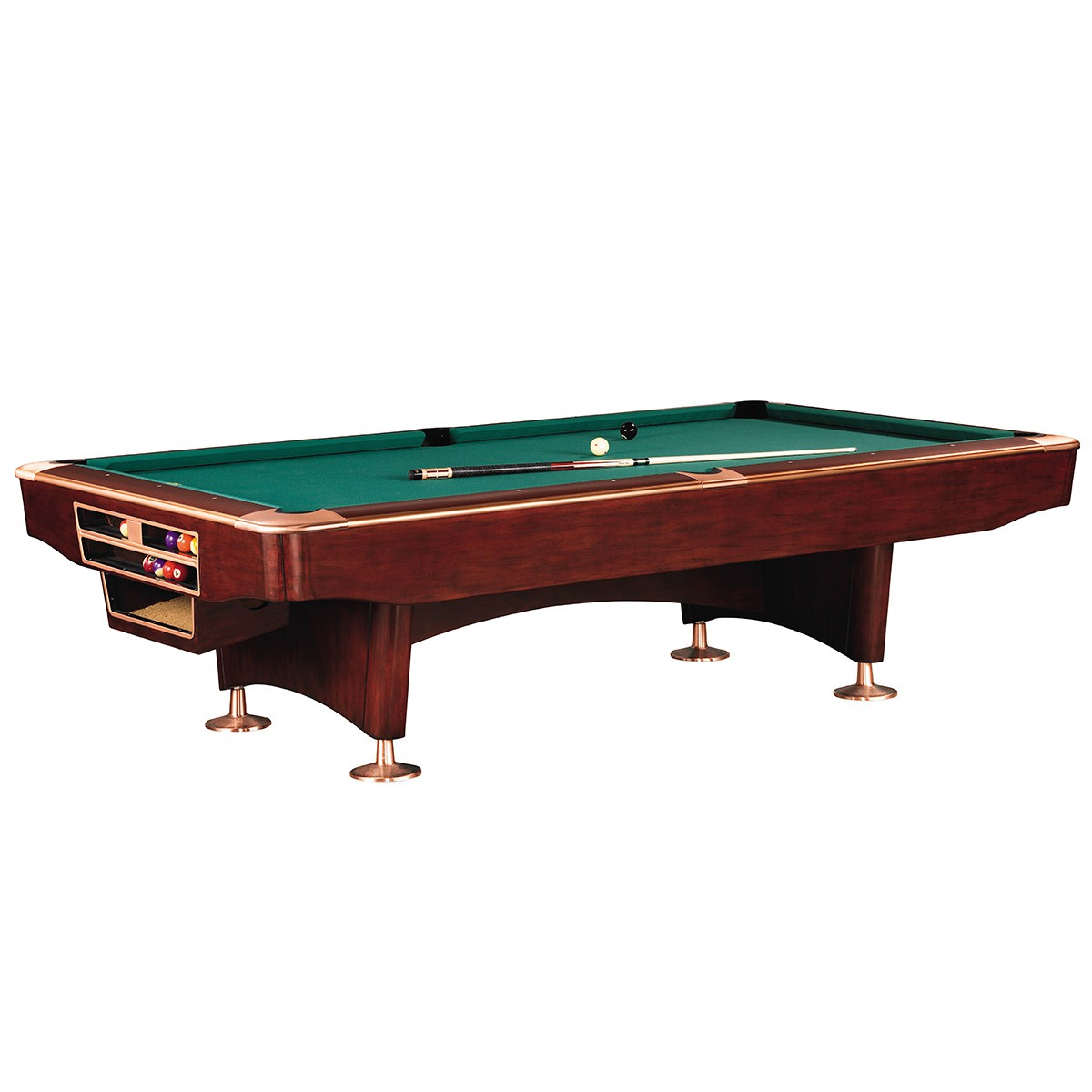 Braune Pool Billardtische für Kneipen und Bars.