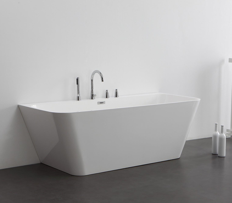 Freistehende badewanne mineralguss oder acryl  Freistehende Badewanne aus Mineralguss KZOAO-0902 Badewelt Wannen ...