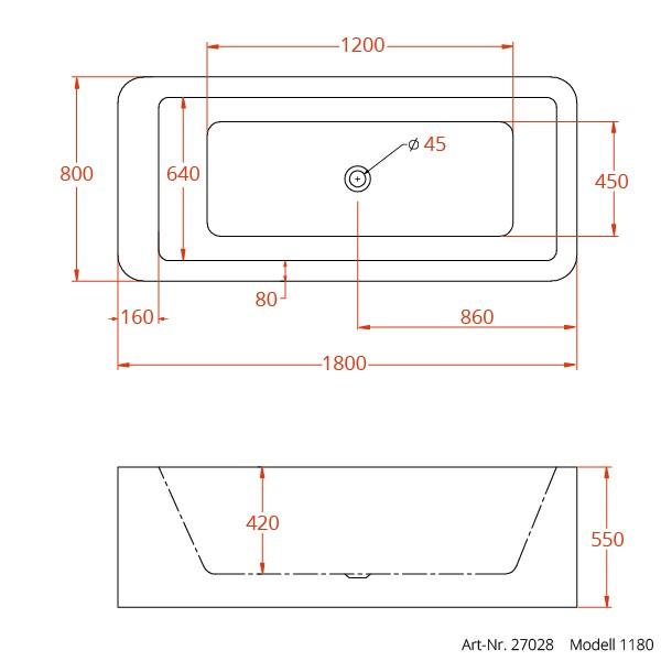 Badewanne Wasser Läuft Nicht Mehr Ab : Freistehende design badewanne aus mineralguss cm inkl ab ?berlauf