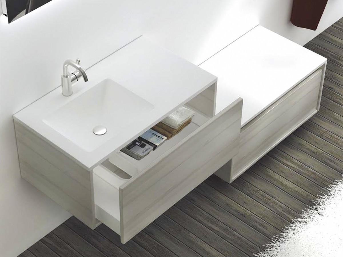bern waschtisch set 80 cm eiche grau badewelt badezimmer m bel waschtisch sets bern. Black Bedroom Furniture Sets. Home Design Ideas