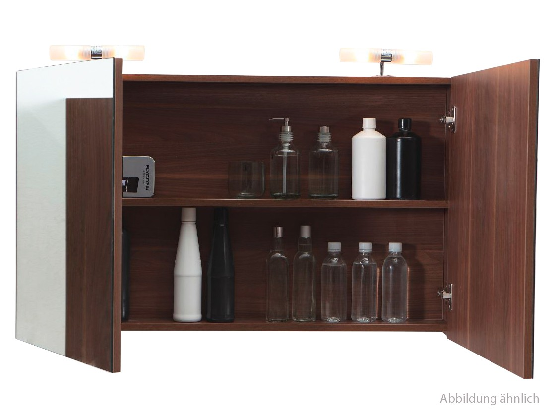spiegelschrank 120 cm nussbaum bad ihr. Black Bedroom Furniture Sets. Home Design Ideas