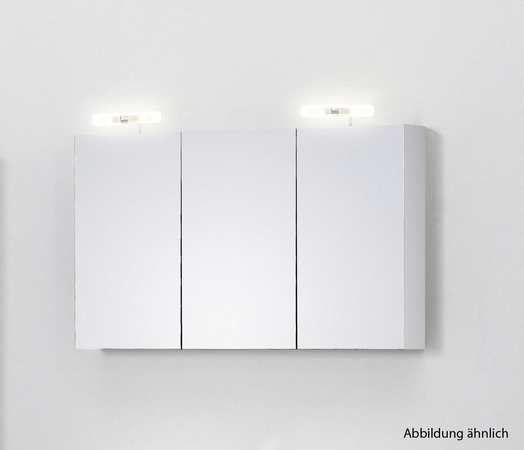 spiegelschrank 120 cm wei badewelt badezimmer m bel. Black Bedroom Furniture Sets. Home Design Ideas