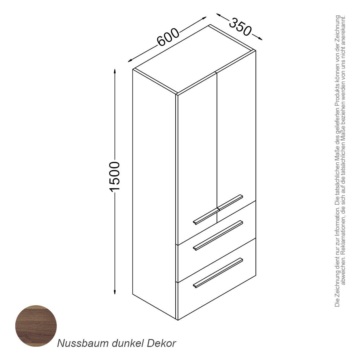 madrid schrank 150 cm badewelt badezimmer möbel, Badezimmer ideen
