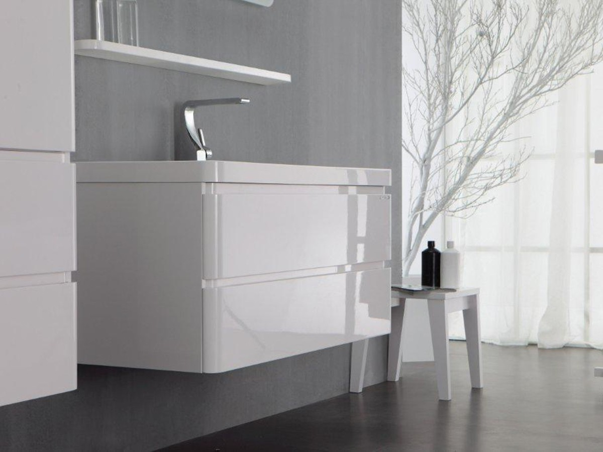 Berlin Waschtisch-Set 65 cm weiß Badewelt Badezimmer Möbel