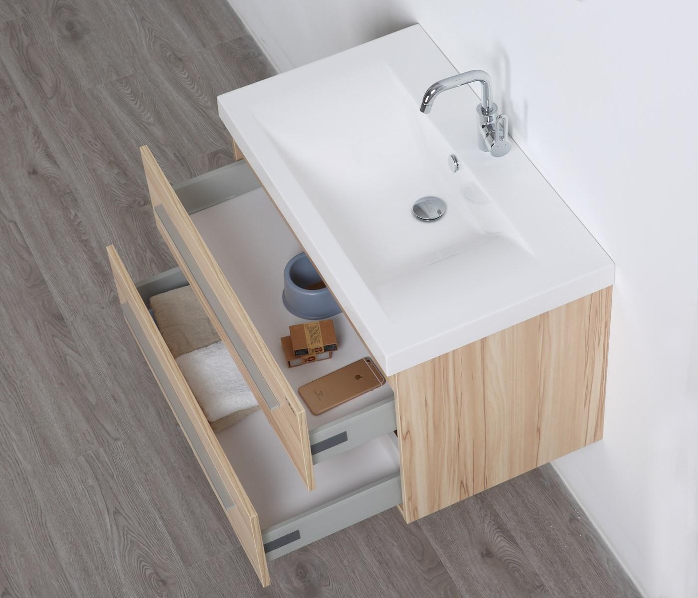 rom waschtisch-set 80 cm kernahorn badewelt badezimmer möbel, Badezimmer ideen