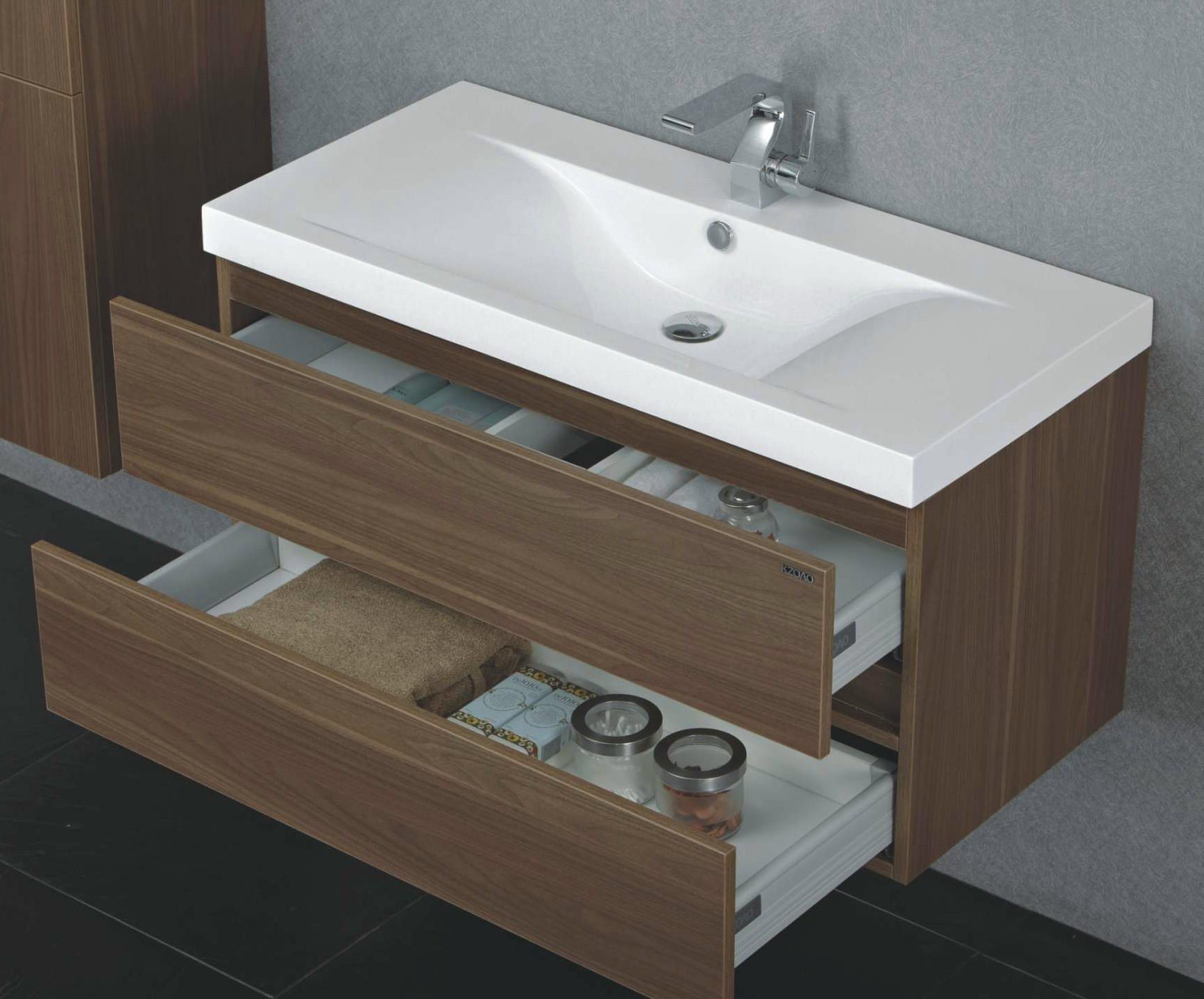 paris waschtisch set 100 cm nussbaum badewelt badezimmer m bel. Black Bedroom Furniture Sets. Home Design Ideas