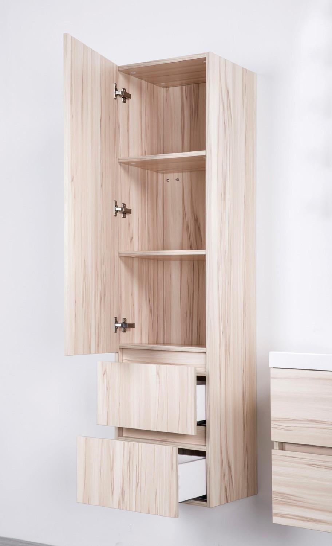 paris schrank 155 cm kernahorn nussbaum badewelt badezimmer m bel. Black Bedroom Furniture Sets. Home Design Ideas