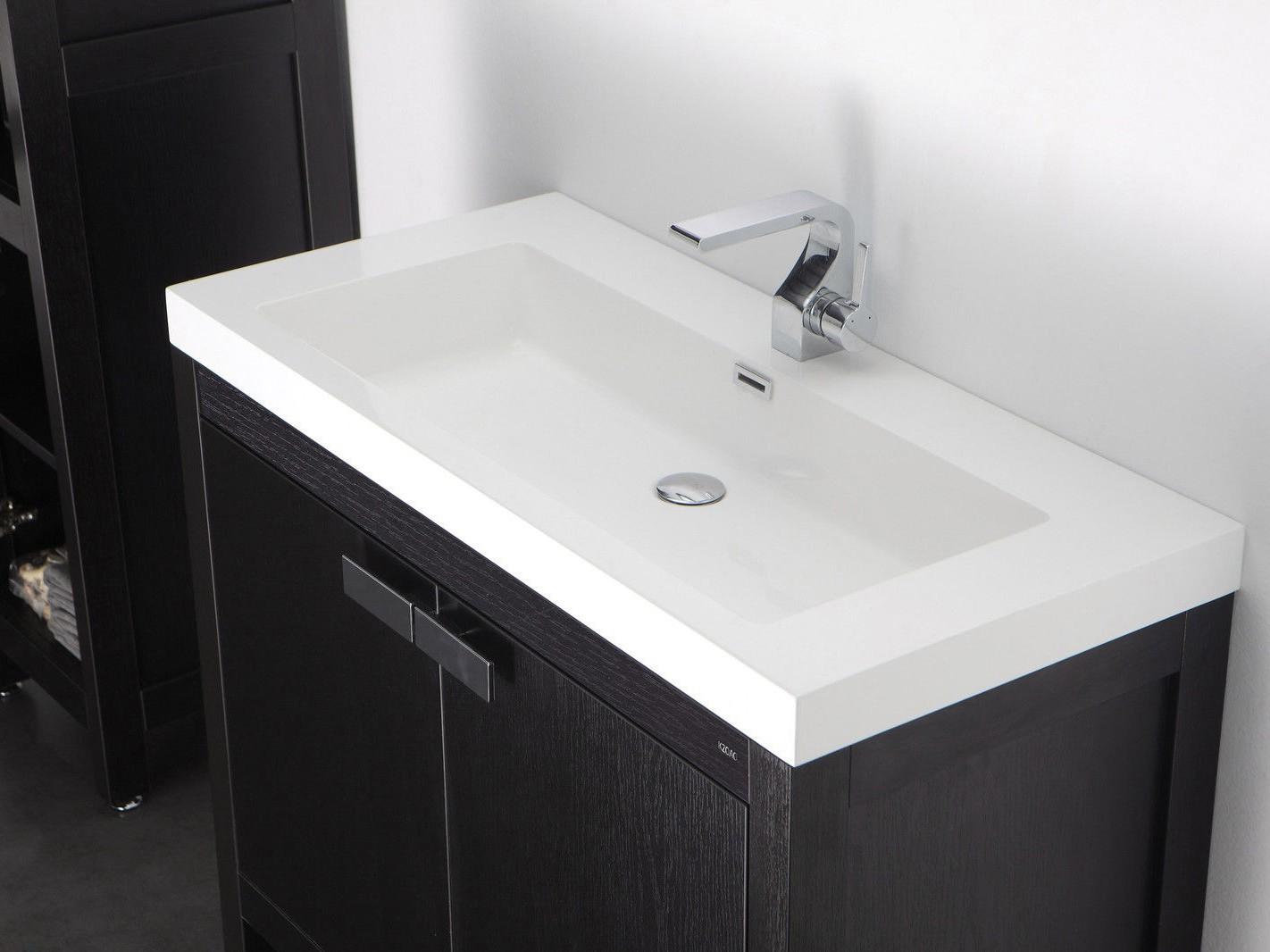 Badezimmer waschtisch set  Barcelona Waschtisch-Set 80 cm Eiche schwarz Badewelt Badezimmer Möbel