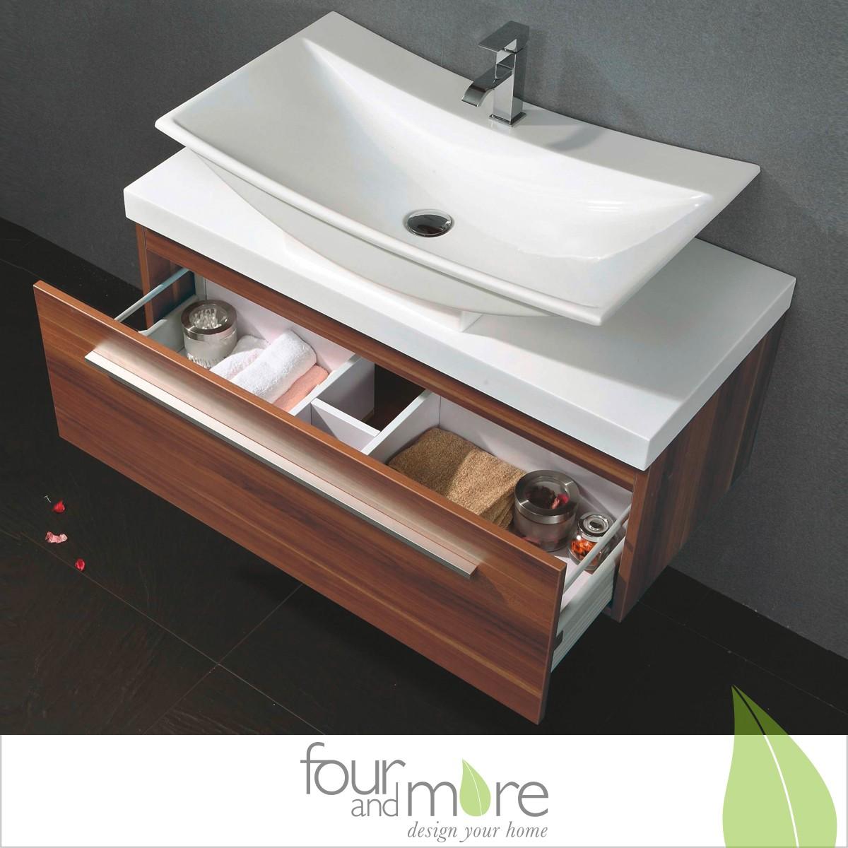 waschtisch set amsterdam 100 cm breit c020 ebay. Black Bedroom Furniture Sets. Home Design Ideas