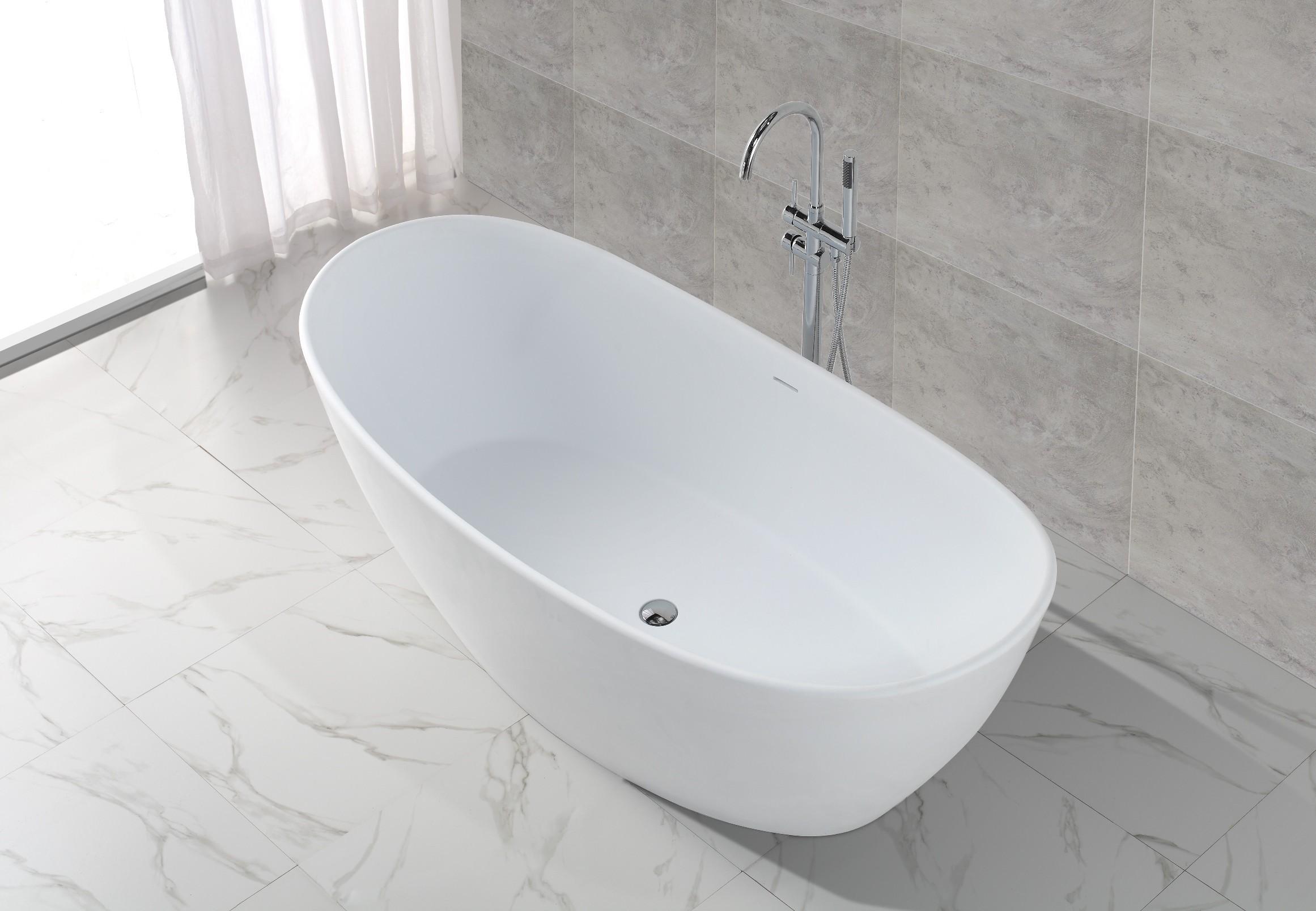 freistehende badewanne mineralguss kkr b034 b badewelt. Black Bedroom Furniture Sets. Home Design Ideas