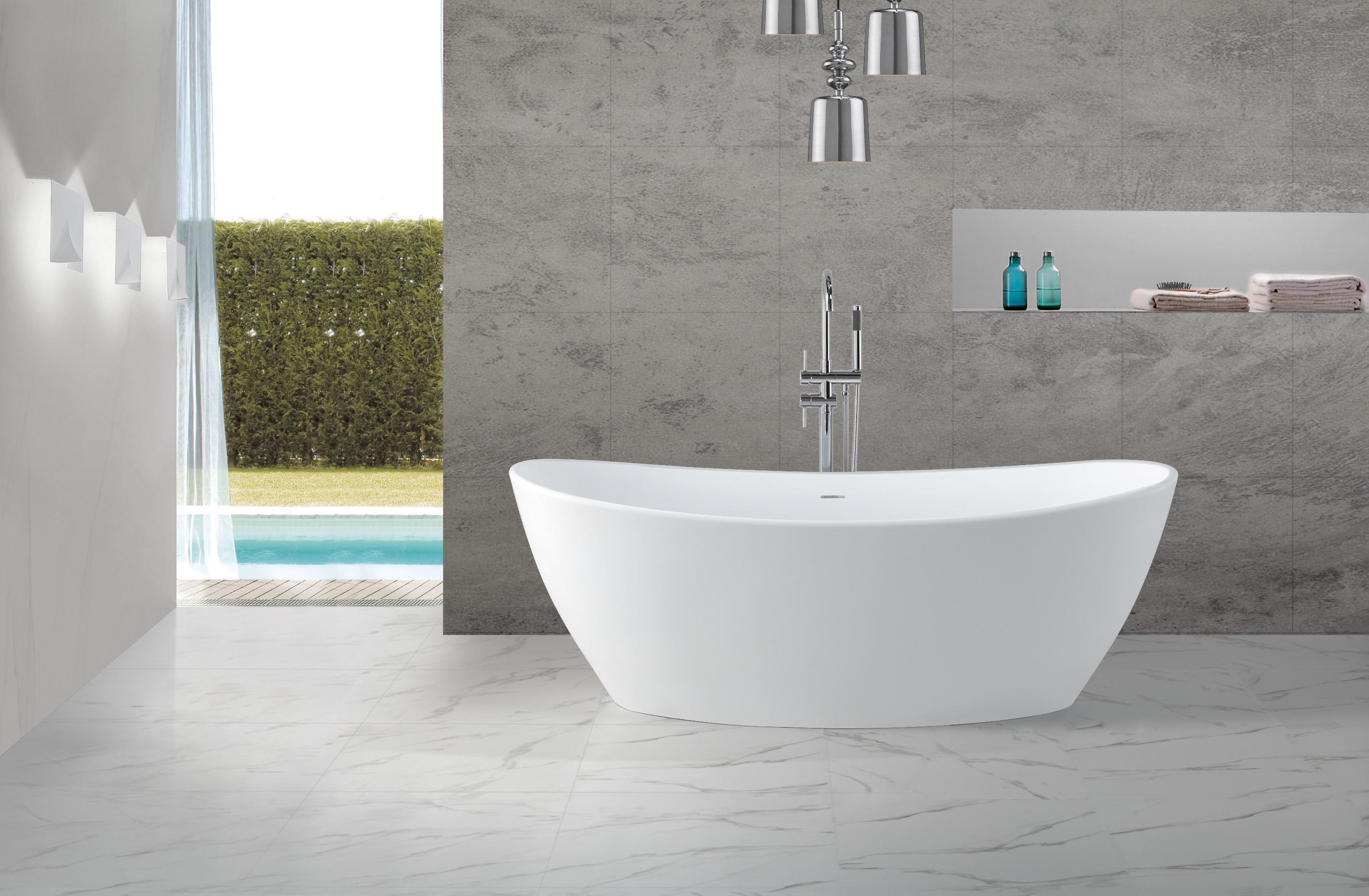 Freistehende Wannen freistehende badewanne mineralguss kkr b034 b badewelt wannen kunststein