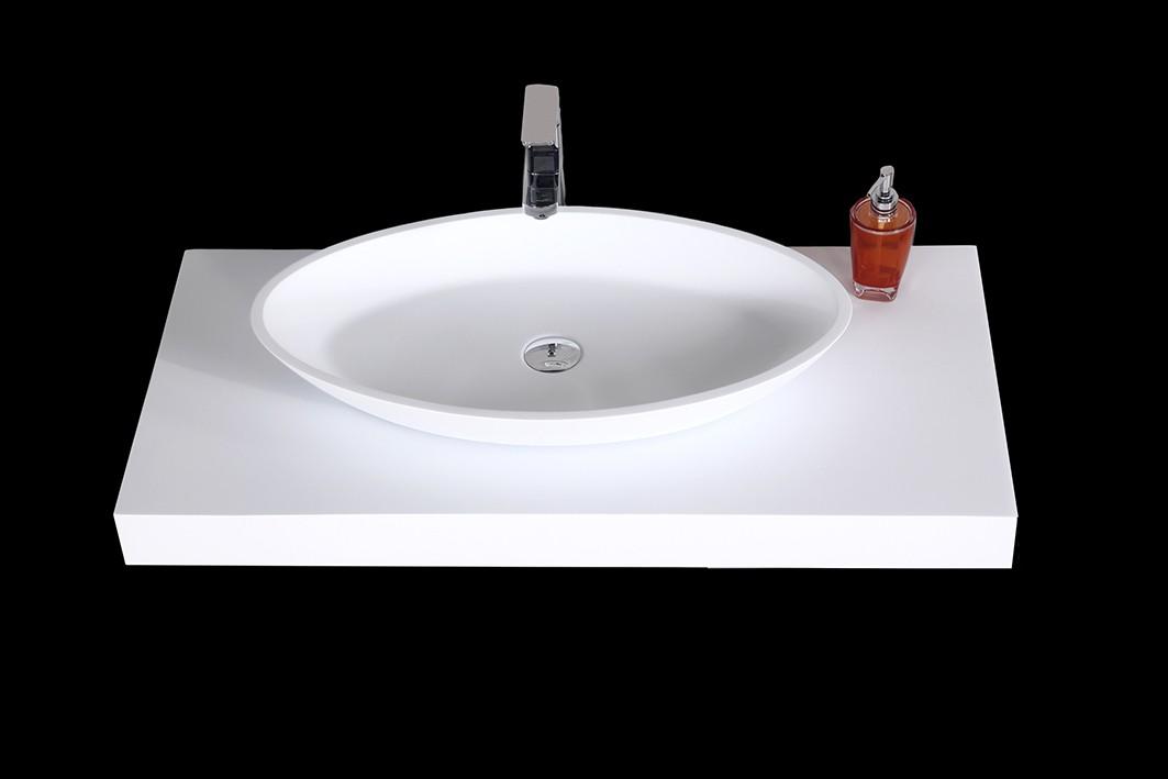 waschtischkonsole f r aufsatzwaschbecken waschtischplatte aus mineralguss 100cm badewelt. Black Bedroom Furniture Sets. Home Design Ideas