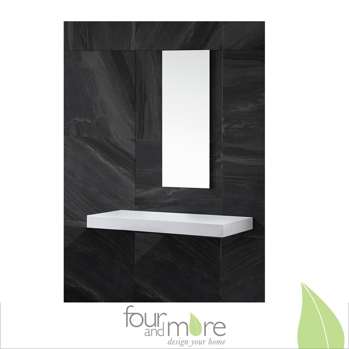 waschtischkonsole f r aufsatzwaschbecken waschtischplatte aus mineralguss 100cm. Black Bedroom Furniture Sets. Home Design Ideas