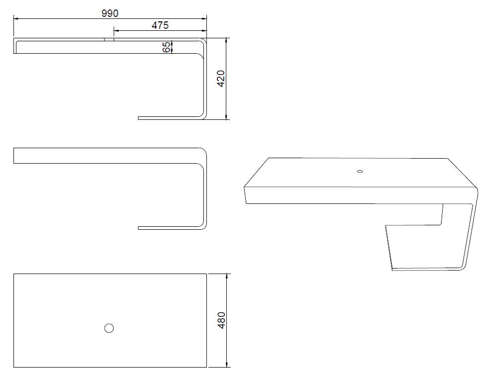 2 wahl design waschtischplatte 1396 badewelt badezimmer m bel waschtisch sets waschtisch auflage. Black Bedroom Furniture Sets. Home Design Ideas