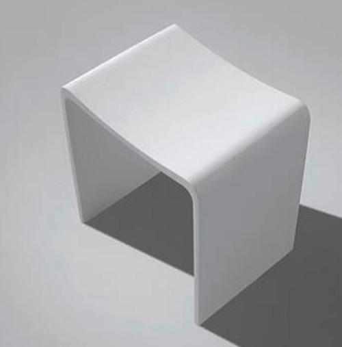 Design Badhocker aus Mineralguss Badewelt Badezimmer Möbel