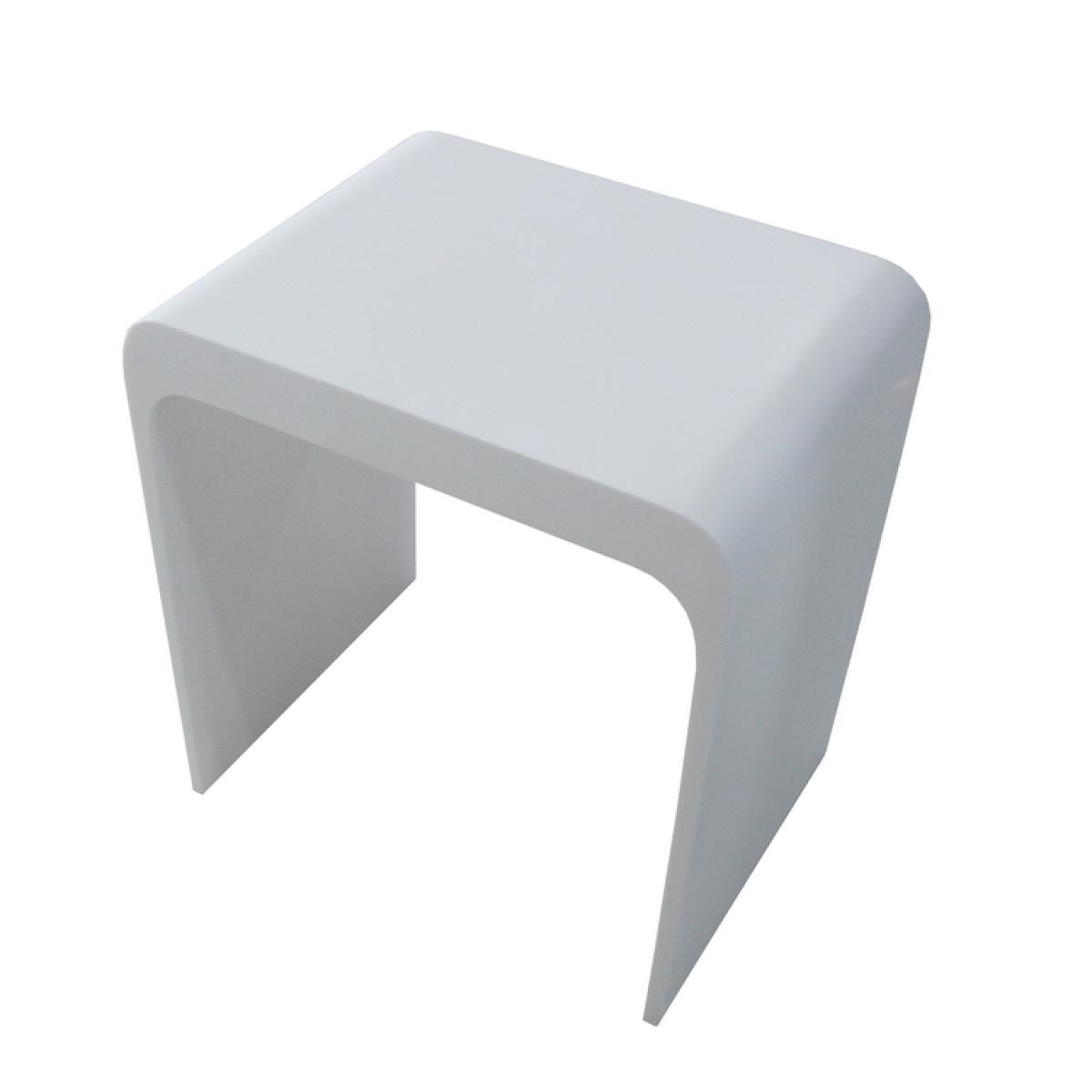 Design badhocker aus mineralguss v badewelt badezimmer m bel for Badezimmer stuhl design