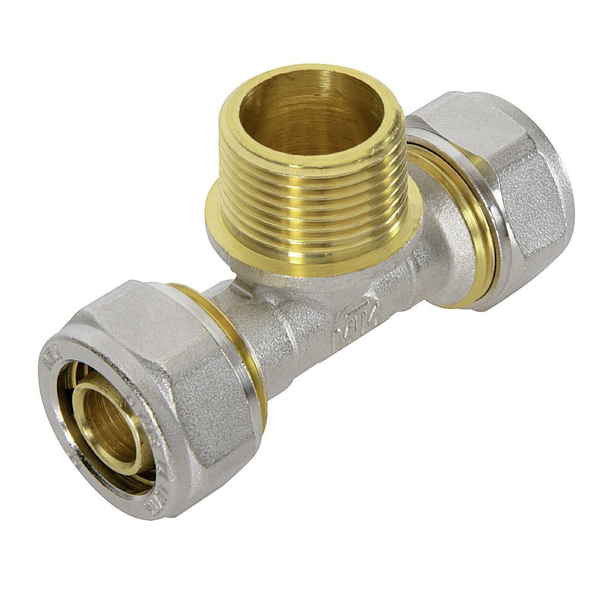 Screw fitting compression composite pipe aluminium