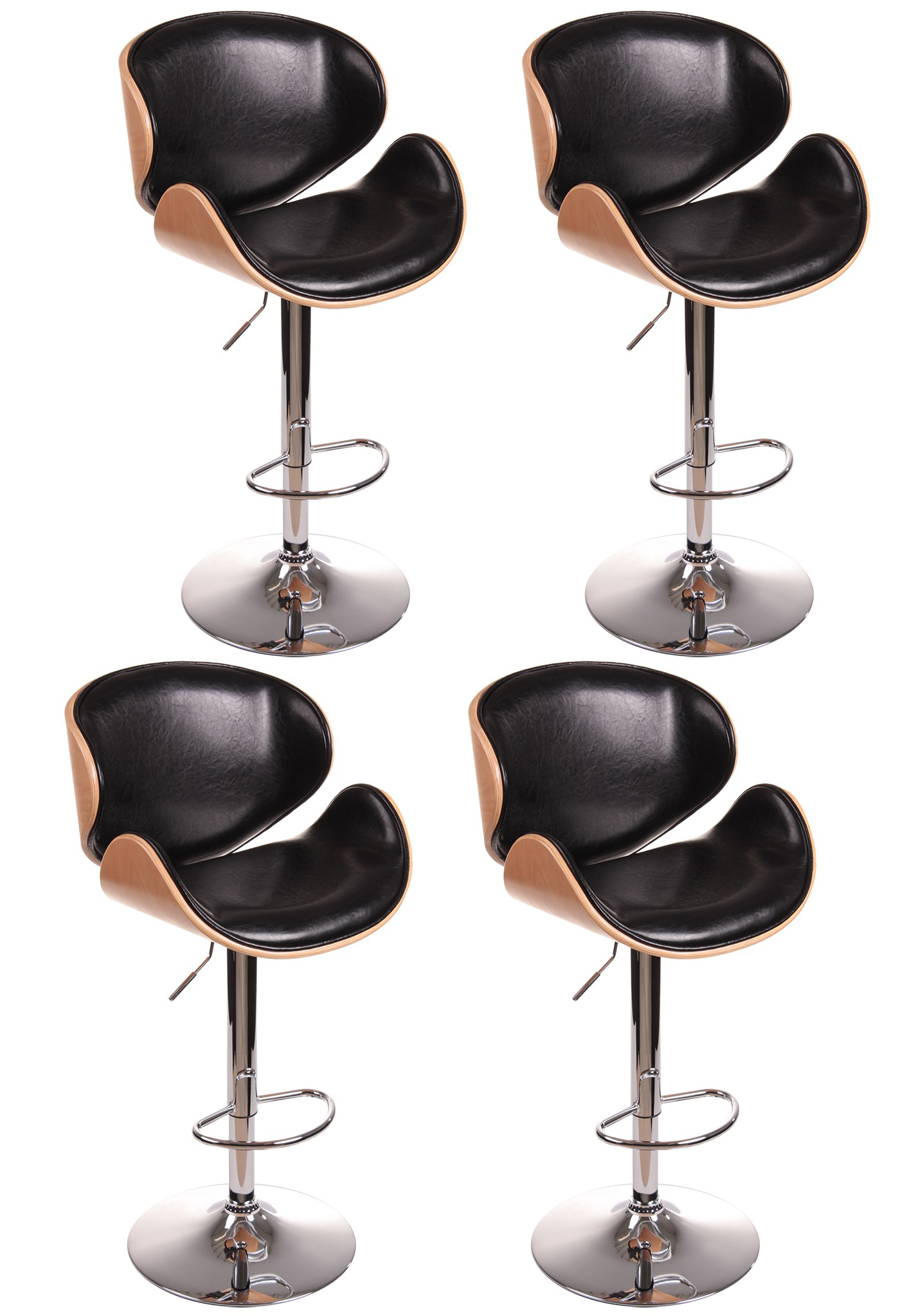 barhocker fm 2203a buchenholz schwarz 4er set haus und. Black Bedroom Furniture Sets. Home Design Ideas