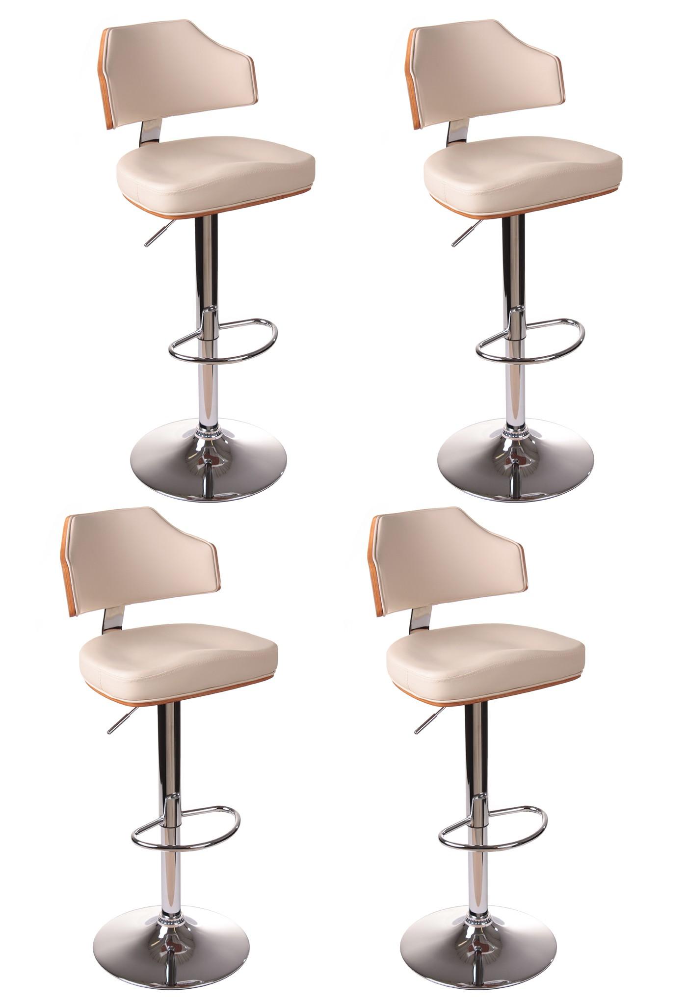 barhocker fm 2159 walnussholz beige 4er set haus und. Black Bedroom Furniture Sets. Home Design Ideas
