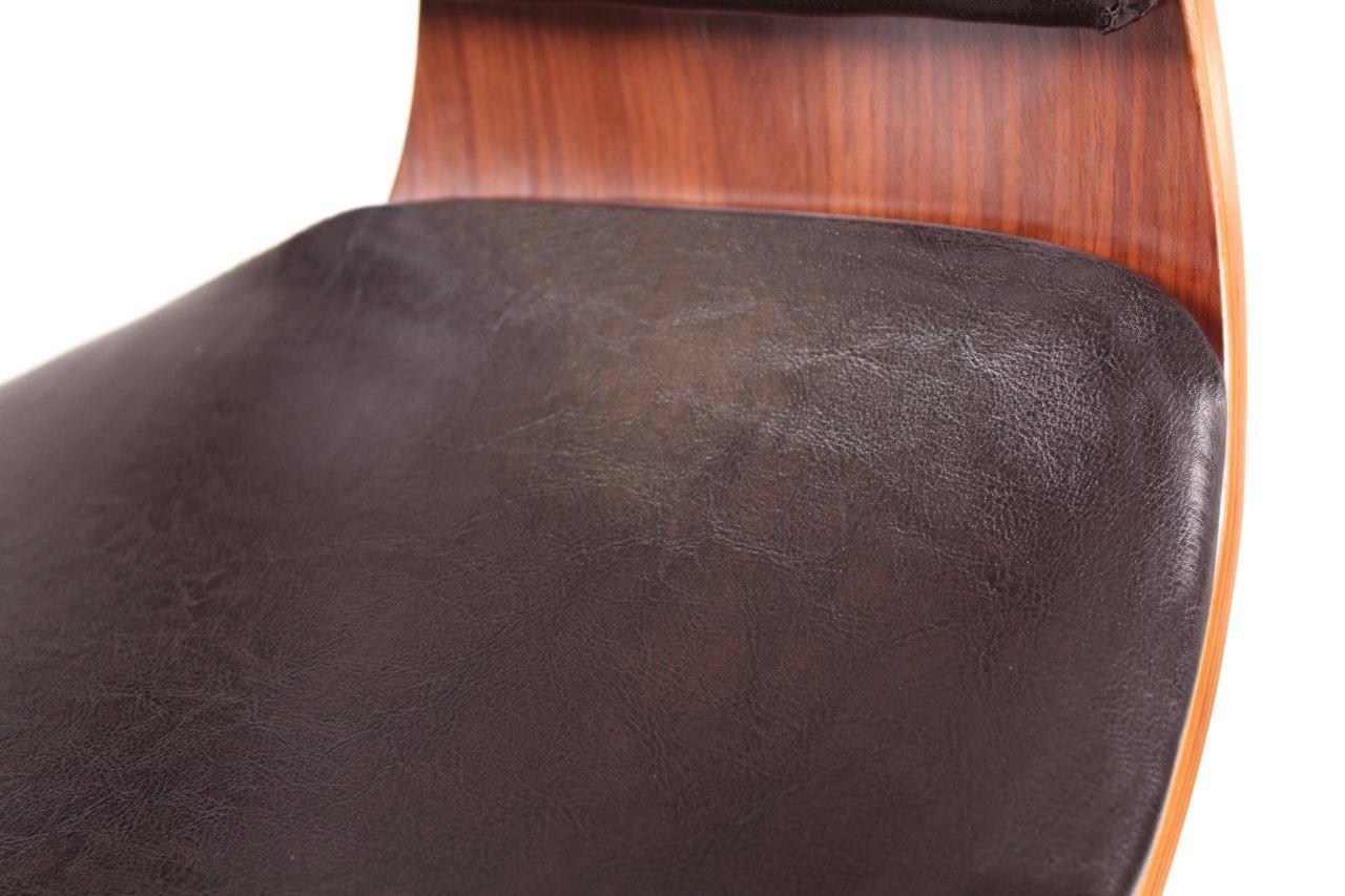 Design Barhocker Lounge Hocker Stuhl Barstuhl NEU/OVP  Walnussholz/dunkelbraun U2013 Bild 2