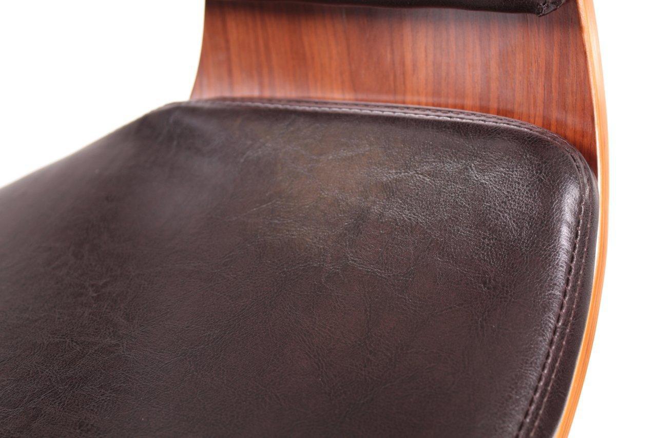 Design Barhocker Lounge Hocker Stuhl Barstuhl NEU/OVP  Walnussholz/dunkelbraun U2013 Bild 3