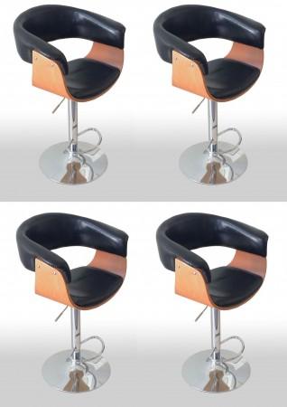 barhocker fm 2337 buchenholz schwarz 4er set ebay. Black Bedroom Furniture Sets. Home Design Ideas