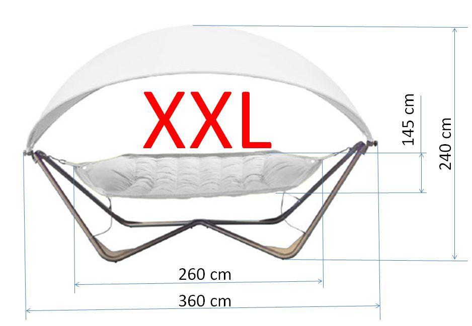 gondola hammock h ngematte mit gestell und sonnensegel uv 50 neu ovp in gr n ebay. Black Bedroom Furniture Sets. Home Design Ideas